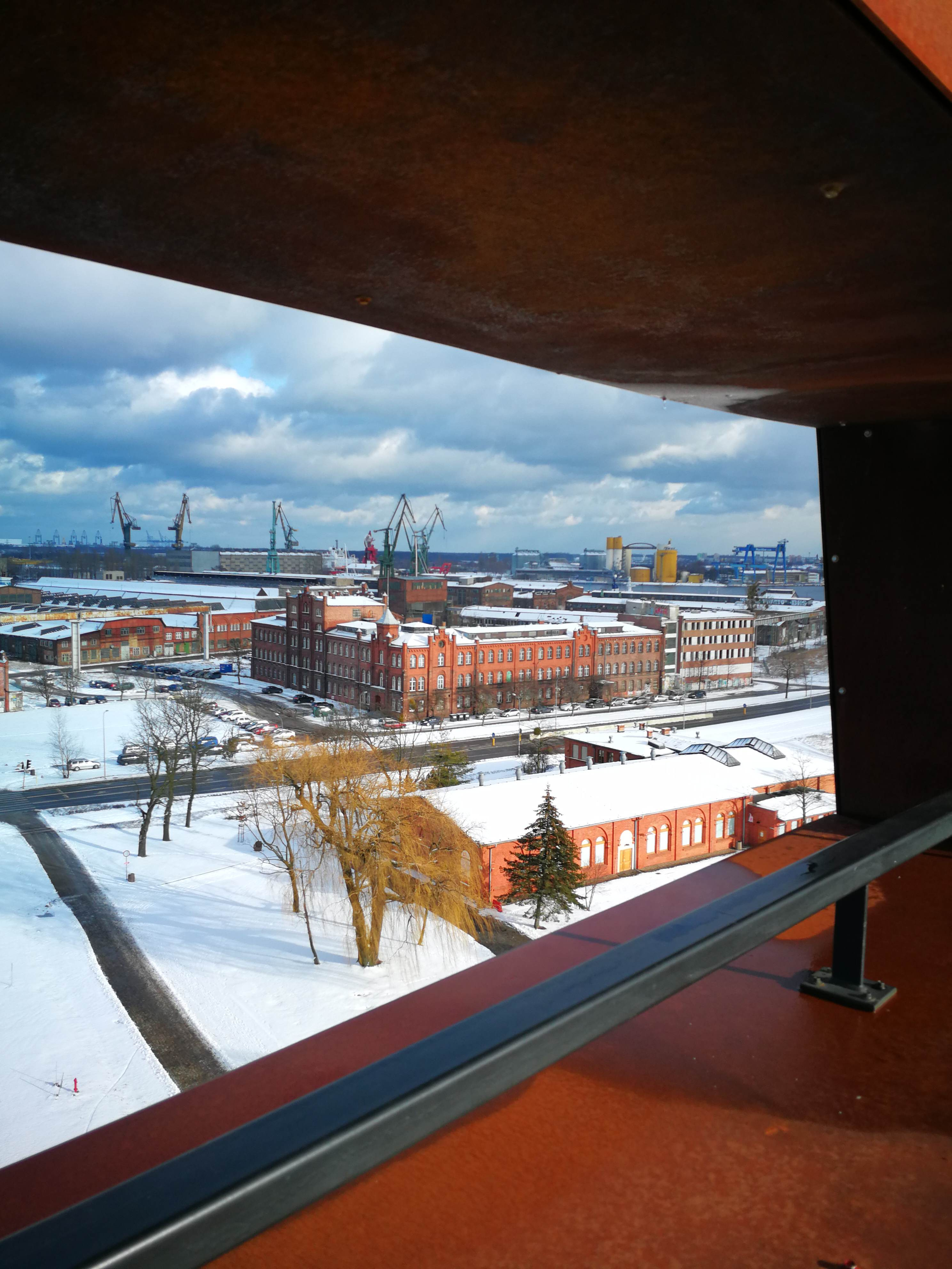 A view from the roof of the European Solidarity Center, Gdansk