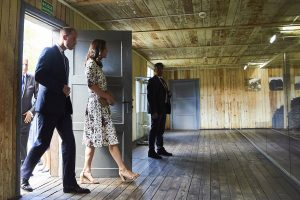 Prince William and Kate visit concentration camp in Poland